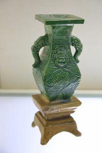 黄绿釉象耳瓷瓶金代