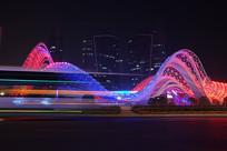 武汉光谷广场夜景-流光