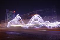 武汉光谷广场-流光溢彩