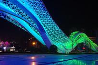 武汉光谷广场星河夜景-彩色飞龙