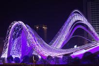 武汉光谷广场星河夜景-见龙在天