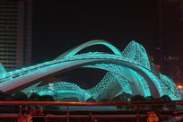 武汉光谷广场星河夜景-天网