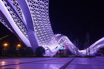 武汉光谷广场星河夜景-夜光流瀑