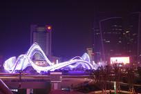 武汉光谷广场星河夜景-银蛇飞舞