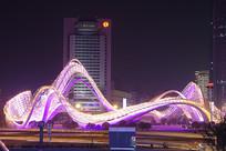 武汉光谷广场星河夜景-紫光飞旋