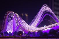 武汉光谷广场夜景-飞龙在天