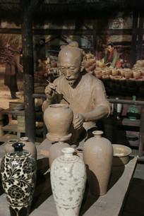 制做瓷器雕像