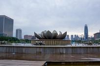 山东济南泉城广场荷花音乐喷泉