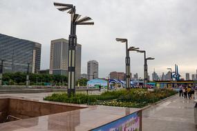 山东济南泉城广场现代建筑