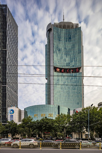 山东新闻大厦建筑外观