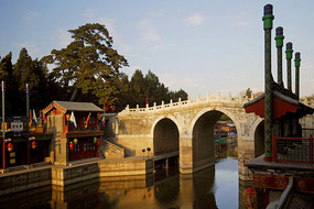 北京颐和园仿江南水乡的苏州街