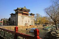 北京颐和园文昌阁城关城楼