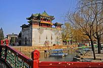 北京颐和园文昌阁城关城楼外景