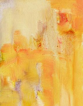 黄色手绘油画