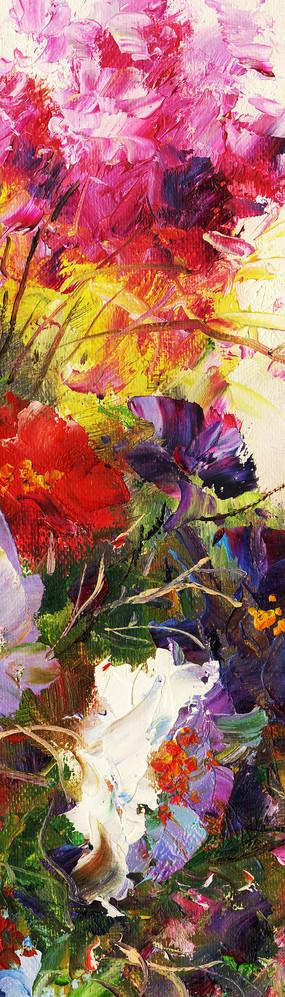 竖版花卉油画