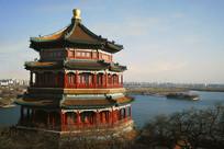 晚霞中的北京颐和园佛香阁