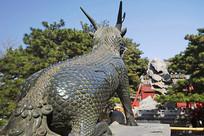 北京颐和园仁寿殿麒麟雕塑