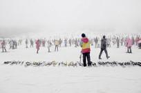 成都第一峰西岭雪山的滑雪场