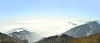 成都西岭雪山高山丘壑