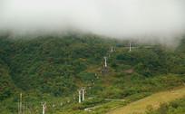 西岭雪山滑草场索道