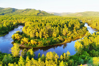 大兴安岭金色森林蓝色河湾
