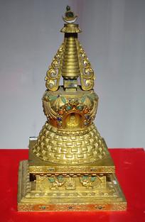 鎏金铜佛塔