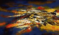 写意山水风景油画