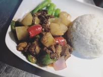 萝卜牛腩饭摄影