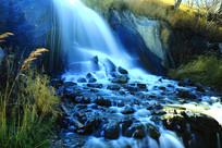 长白山旅游风景区瀑布