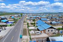 内蒙古百年边塞村庄上护林老房