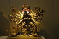 雍和宫时轮金刚铜鎏金铜像