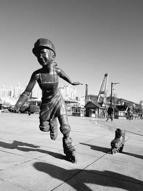 奔跑的雕塑