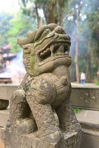 成都石经寺石栏杆麒麟石雕