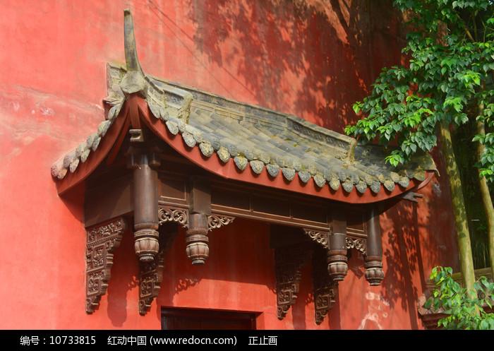 传统木建筑构件垂花柱 图片