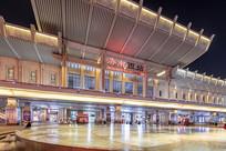 济南西站建筑夜景