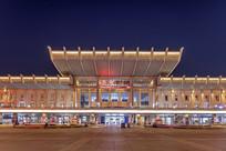 济南西站夜景