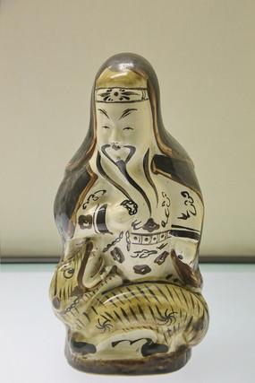 明代瓷像禹王锁蛟