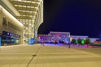 山东济南西站夜景