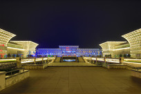 山东省济南西站夜景