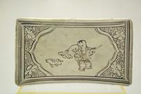 婴戏荷鸭瓷枕头元代