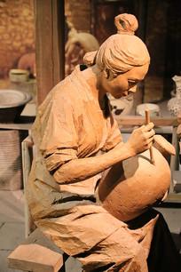 制瓷工艺复原雕像描述图案