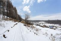 长岭雪村雪路
