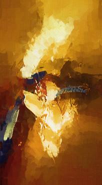 抽象竖版壁画