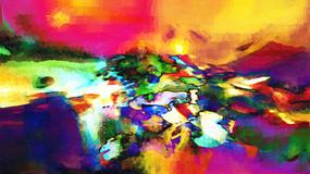 五光十色现代抽象画