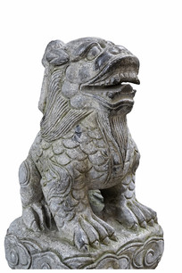 中国古代神话神兽囚牛石刻