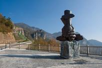 重庆巫山神女峰景区观景台雕塑