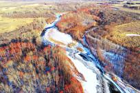 冰河红树林雪景
