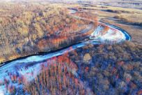 大兴安岭冬季冰河红树林