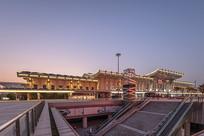 济南西客站夜景