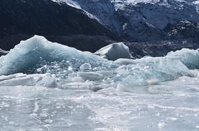 然乌冰川风景图片